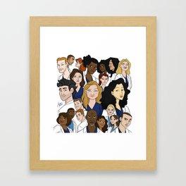 Grey's Anatomy Framed Art Print
