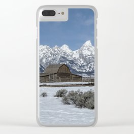 John Moulton Barn and the Grand Tetons Clear iPhone Case