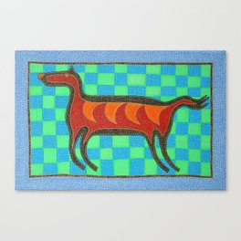 Horse Dog Canvas Print