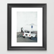 30 m on left Framed Art Print