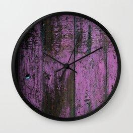 Purple Country Faux Barn Wood Wall Clock