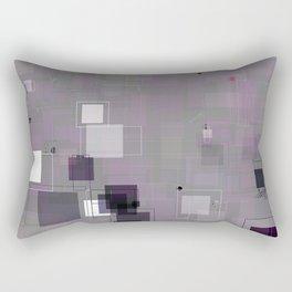 Purple Plum  Square Pattern Rectangular Pillow