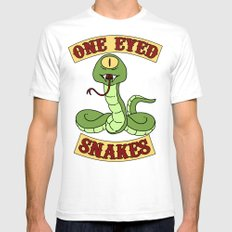 One Eyed Snakes Mens Fitted Tee White SMALL