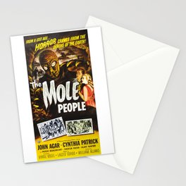 The Mole People, vintage horror movie poster Stationery Cards
