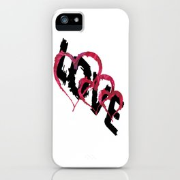 Triple Heart Love iPhone Case