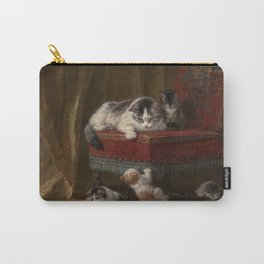 Cats family painting Carry-All Pouch