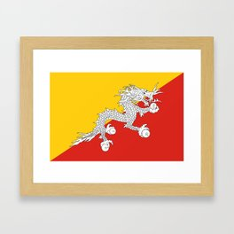 Bhutan country flag Framed Art Print