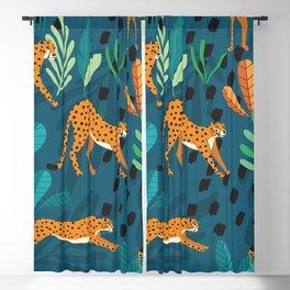 Cheetah pattern 001 Blackout Curtain