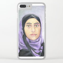 Ayat (Syrian Refugee) Clear iPhone Case