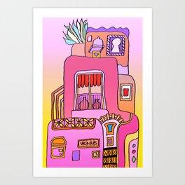 House Called Venus - Colorful Art Print