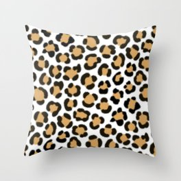 Trendy Leopard Simulated Fur Effect Pattern Throw Pillow