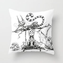 Imagination Grows  Throw Pillow