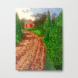 The Red House in Finland Metal Print