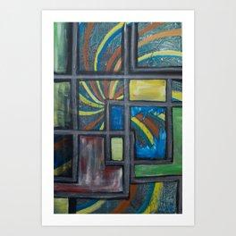 Windows to anxiety Art Print
