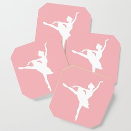 Pink and white Ballerina Coaster