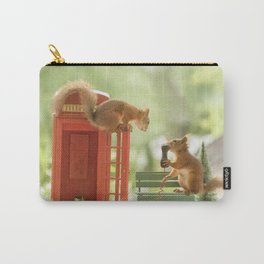 squirrels with a telephone booth Carry-All Pouch