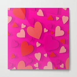 Decorative paper heart 3 Metal Print