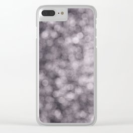 Abstract Series: Purple Clear iPhone Case