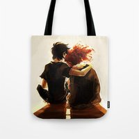 viria Tote Bags featuring hey brother by viria
