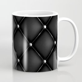 Black Quilted Leather Coffee Mug