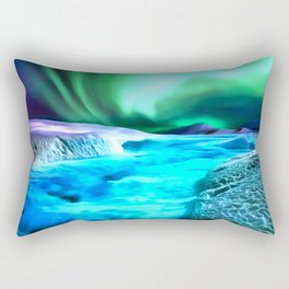 aurora borealis acrylic reacstd Rectangular Pillow