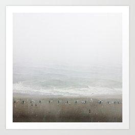 Shoreline Stormline  Art Print