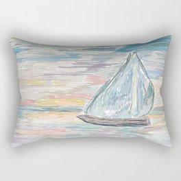 Bateau at Sunset Rectangular Pillow