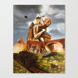 The Man in the Castle (illustration from my painting manual Fantastic realism) Canvas Print