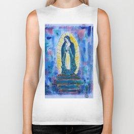Virgen de guadalupe in blue Biker Tank