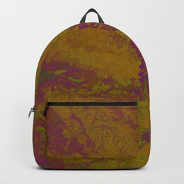 Geography Art of India - Golden Purple  Backpack