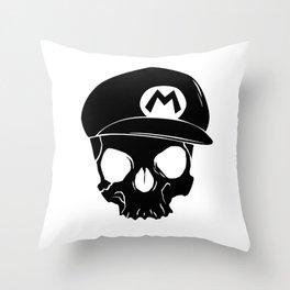 Mario fan til I die Throw Pillow