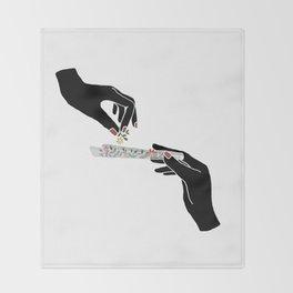 Flower roll / Illustration Throw Blanket