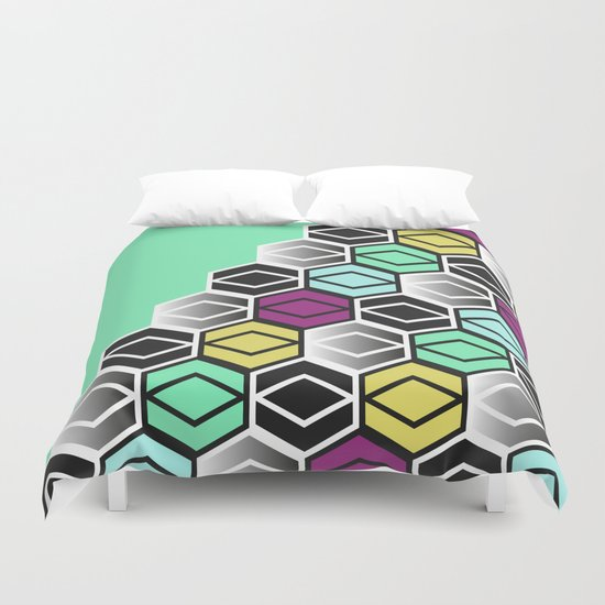 HexagonWall Duvet Cover