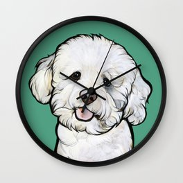 Gracie the Bichon Wall Clock