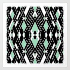 Art Deco Zoom Mint Art Print