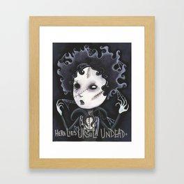 Ursula Undead - Spleen Sister by Macabre Framed Art Print