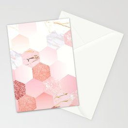 Hexagon monday Stationery Cards
