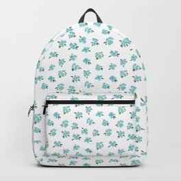Blue Mini Watercolor Floral Backpack