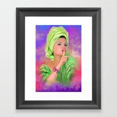 Hushh Framed Art Print