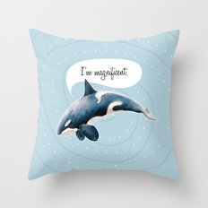 orcinus orca Throw Pillow