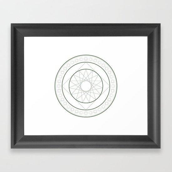 Anime Magic Circle 4 Framed Art Print