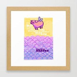 Pigs Go To Heaven Framed Art Print