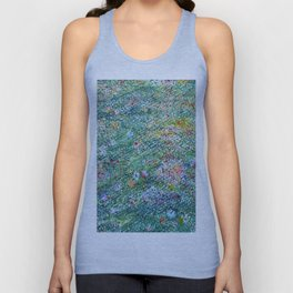 colorful flower filed Unisex Tank Top