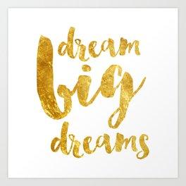dream big dreams Art Print