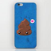 poop iPhone & iPod Skins featuring Poop Love by Whitney Lynn Art