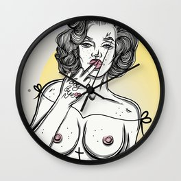 For Fuckboys Wall Clock