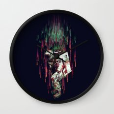 Falling from the Space Wall Clock