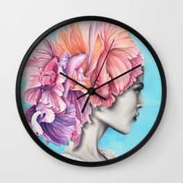 Betta Fish Artwork Wall Clock