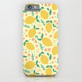 Mellow Yellow Lemons iPhone Case