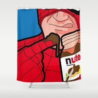 secret life Shower Curtains featuring secret life by eatpersonality